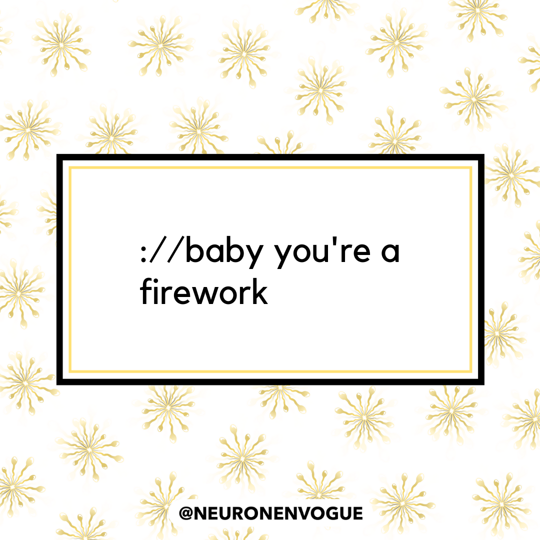 baby you're a firework
