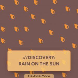 discovery: rain on the sun